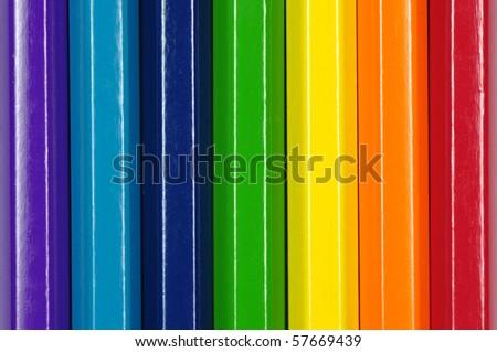 Rainbow pencil color. - stock photo