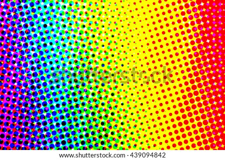Rainbow pride halftone pattern used to create abstract background