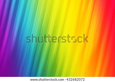 Rainbow pride light rays used to create abstract background  - stock photo