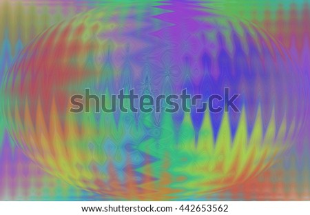 Rainbow psychedelic wave length design patterns oval red yellow green blue orange violet purple oval vivid background backdrop  - stock photo