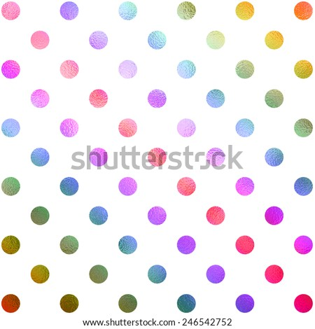Rainbow Red Green Teal Blue Purple White Polka Dot Pattern Swiss Dots Texture Digital Paper Background - stock photo