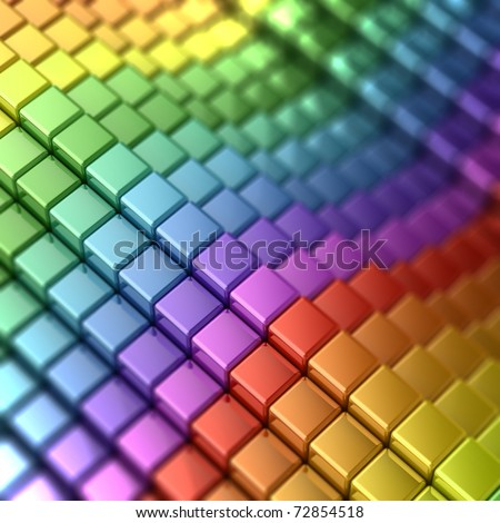 Rainbow shape - stock photo