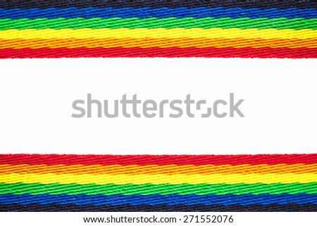 Rainbow strap isolated on a white background - stock photo