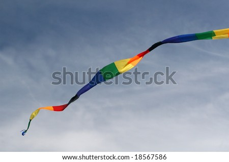 Rainbow Streamer in the Wind
