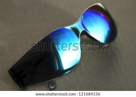 rainbow sun glasses - stock photo