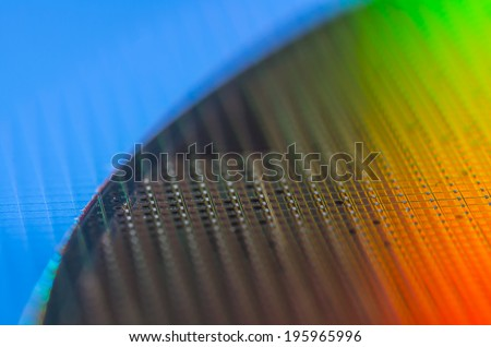 Rainbow Wafer - stock photo