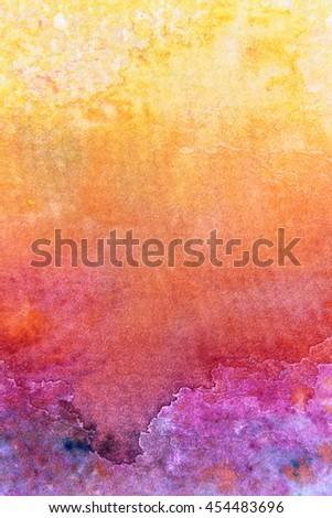 Rainbow Watercolour Background 1 - stock photo
