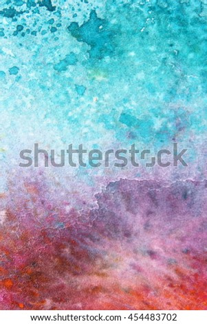 Rainbow Watercolour Background 5 - stock photo