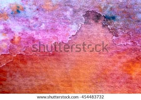 Rainbow Watercolour Background 10 - stock photo