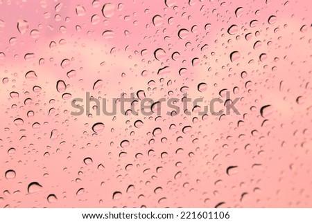 Raindrop on window - stock photo