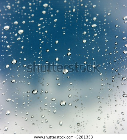 Raindrops - stock photo