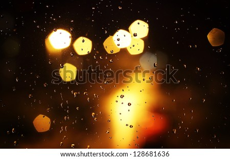 Raindrops on a window - stock photo