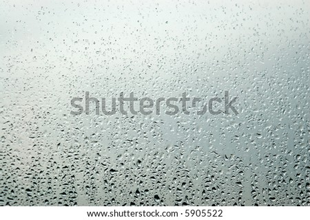 Raindrops on a window - autumn is here