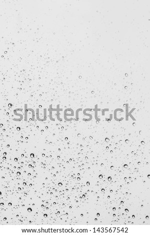 raindrops on glass - stock photo