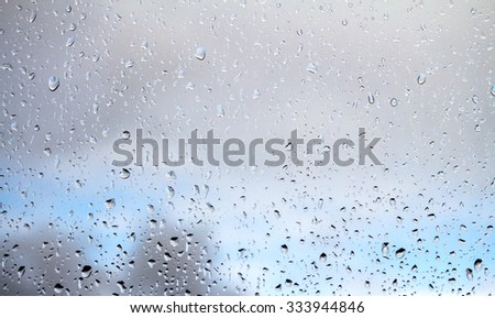 raindrops on the glass