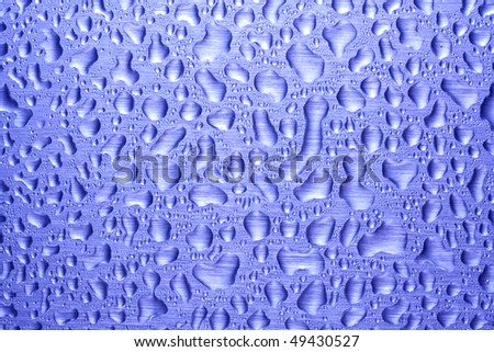 Raindrops on the Windshield - stock photo