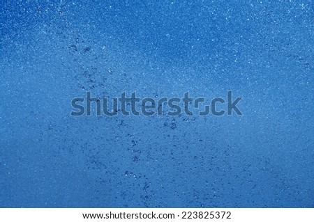 rainfall water drops in the blue sky - stock photo