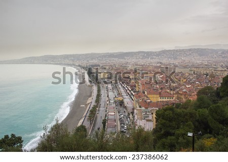 Raining in Nice - stock photo