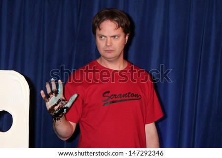 "Rainn Wilson   - 100th Episode of ""The Office""  On Location at Calamigos Ranch in Malibu , CA on April 14, 2009 - stock photo"