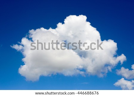rainy cloud,white cloud in the blue  sky ,in thailand