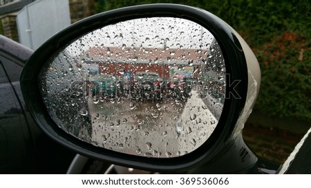 Rainy day in the car