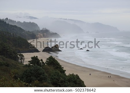 Rainy Oregon Coast