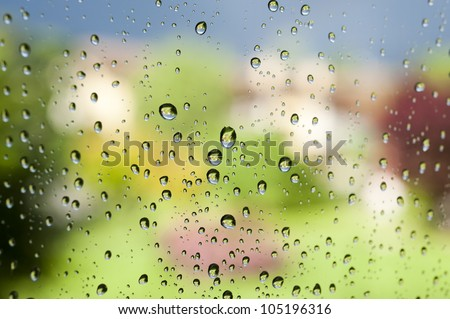 Rainy windows at springs
