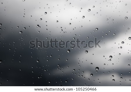 Rainy windows during a storm 2