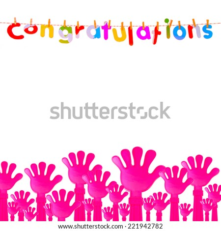 raise your hand Congratulations and all - stock photo