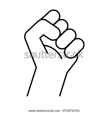 Raised Fist Emoji Outline