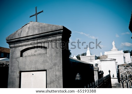 Raised Tombs at St. Louis Cemetery I - stock photo