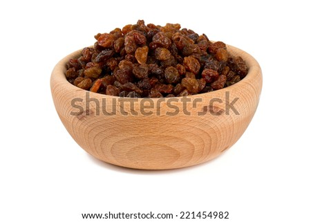 raisins in a bowl - stock photo