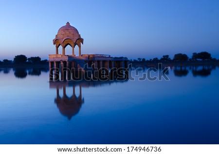 Rajasthan gadisar lake - stock photo