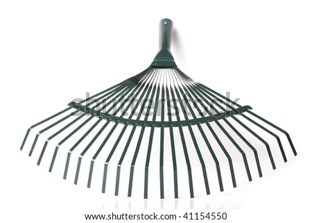 Rake isolated on white background