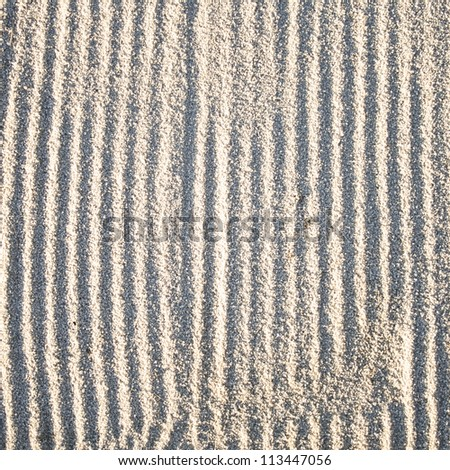 Raked sand bunker texture - stock photo