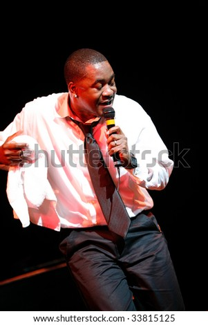 RALEIGH, NORTH CAROLINA-APRIL 25: Canton Jones performs on stage at Raleigh Memorial Convention Hall on April 25, 2009 in Raleigh, North Carolina. - stock photo
