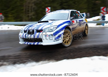 rally car - stock photo