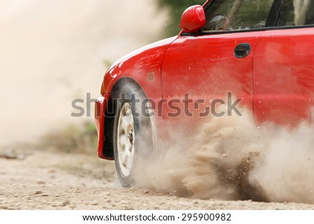 Rally Car in track