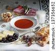 ramadan dinner - stock photo