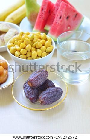 Ramadan fasting food - stock photo