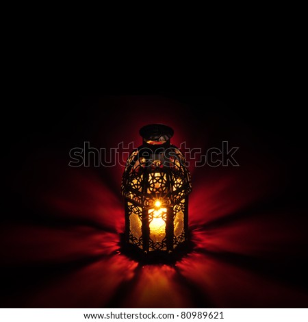 Ramadan greeting  card template - stock photo