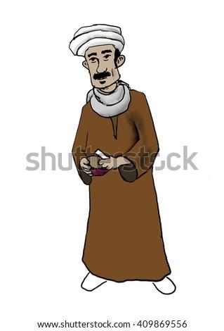 Ramadan souhour man - Mesaharaty - stock photo
