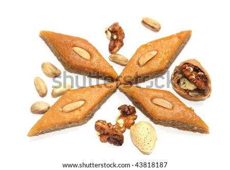 Ramadan Sweet- baklava with nuts