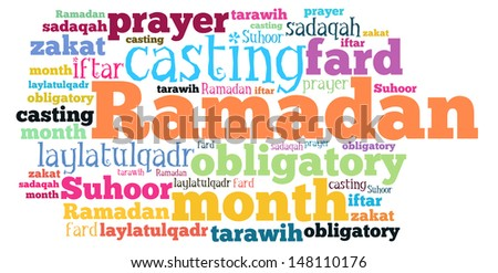 Ramadan Word Cloud Style