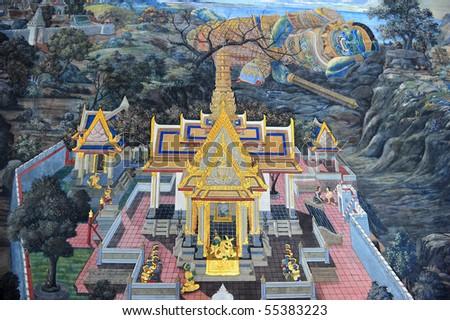 Ramayana story - stock photo