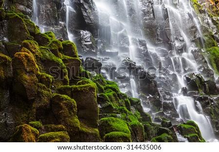 Ramona falls in Oregon, USA - stock photo