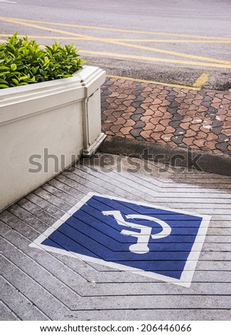 Ramps for disabled,using wheelchair ramp  - stock photo