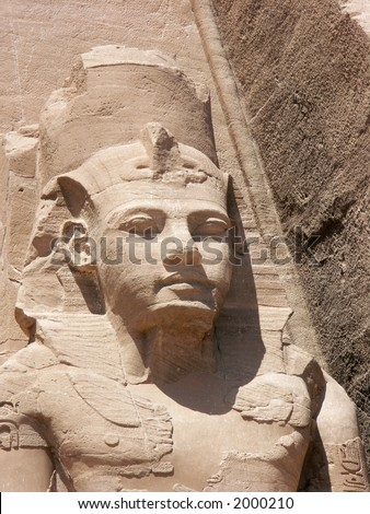 Ramses statue at Abu Simbel, Egypt