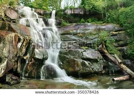 Ramsey Cascades in Gatlinburg, Tennessee, U.S.A. - stock photo