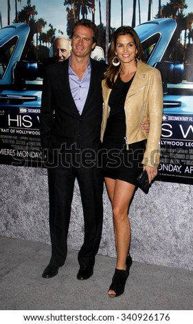 "Rande Gerber and Cindy Crawford at the Los Angeles Premiere of ""His Way"" held at the Paramount Pictures Studios in Los Angeles, California, United States on March 22, 2011."